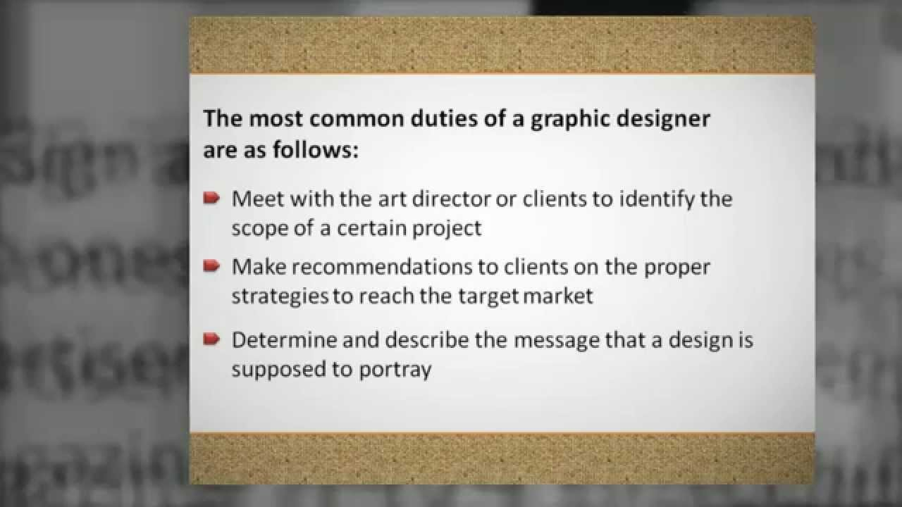 What Are The Duties And Responsibilities Of Graphic Designers ...