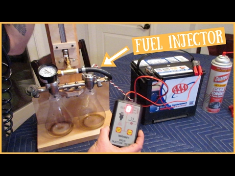 SIDE/TOP-FEED Fuel Injectors - CHEAP Way to Clean/Pressure Test/Flow Test ~ $30.00