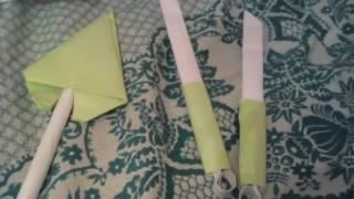 Обзор оригами оружия + начало