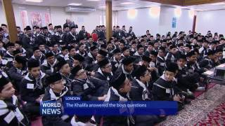 Hazrat Mirza Masroor Ahmad explains Islam's view on Big Bang to Canadian Atfal