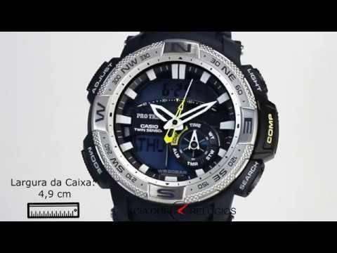 4ffc3eb912f Casio Pro Trek Twin Sensor Masculino PRG 280 2DR - YouTube