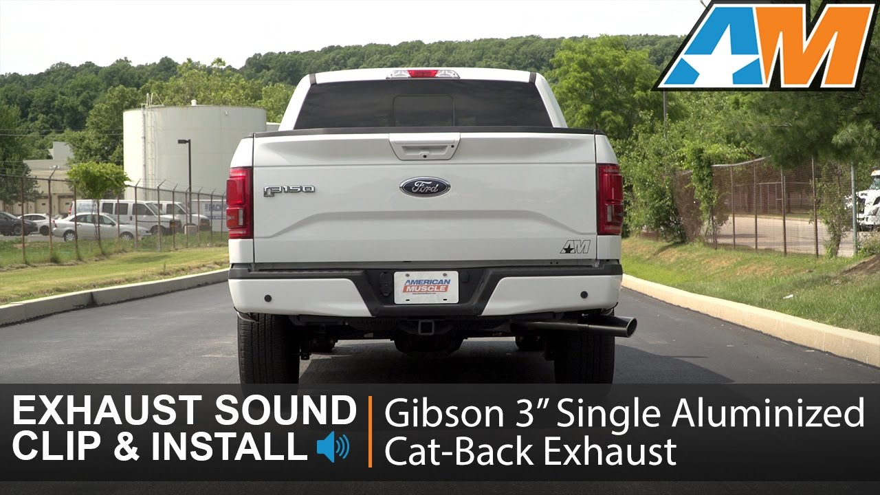 2015 2017 f 150 2 7l ecoboost gibson 3 single aluminized cat back exhaust sound clip install