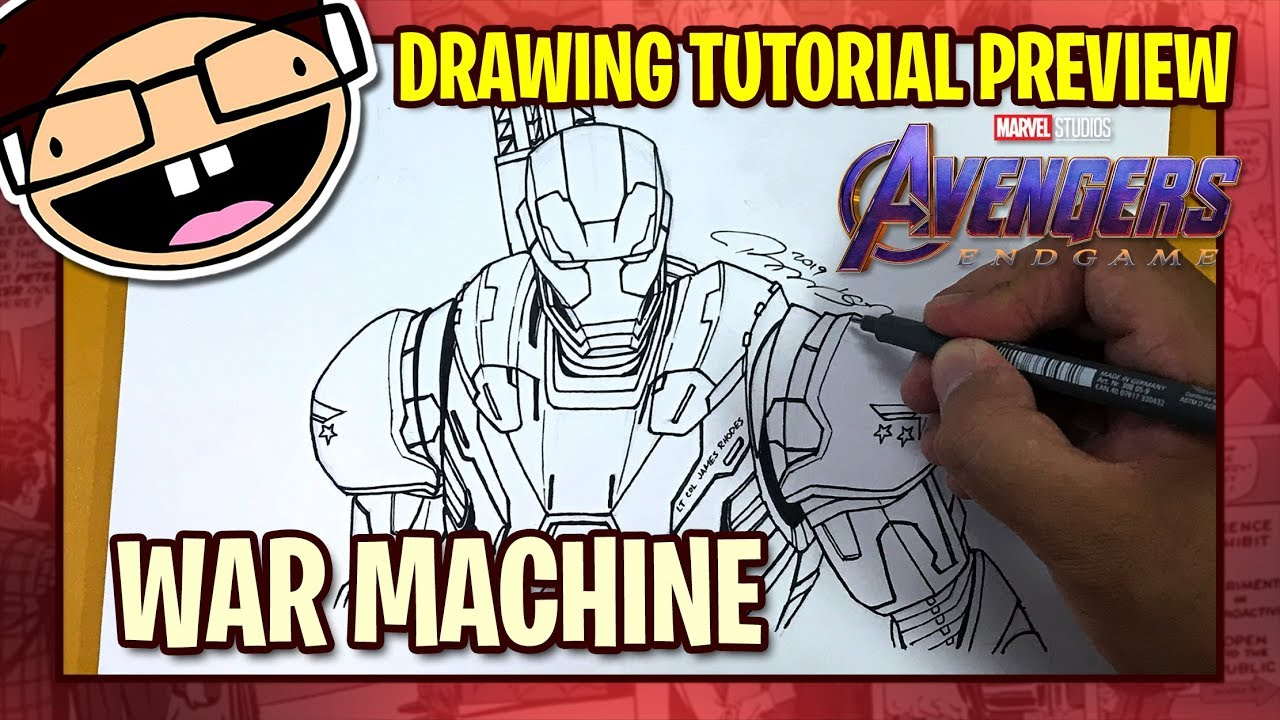 Preview How To Draw War Machine Mark 006 Avengers Endgame
