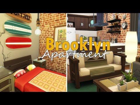 Brooklyn Apartment! // The Sims 4 Speed Build thumbnail