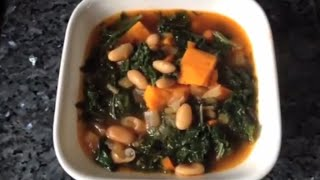White Bean, Kale And Sweet Potato Soup