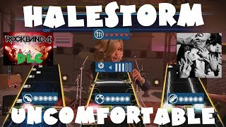 Halestorm - Uncomfortable - Rock Band 4 DLC Expert Full Band (October 11th, 2018)