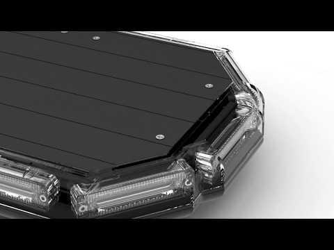 K-Force® Series LED Mini Light Bars - Magnetic Roof Mount Warning Lights