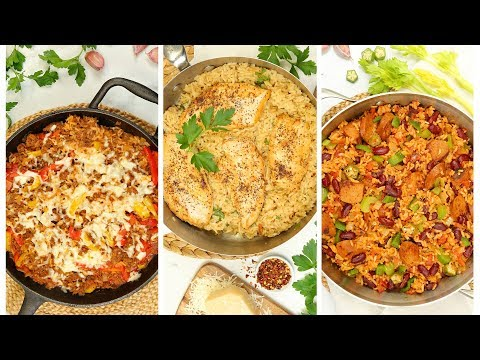3-delicious-rice-skillets-|-easy-one-dish-dinner-recipes