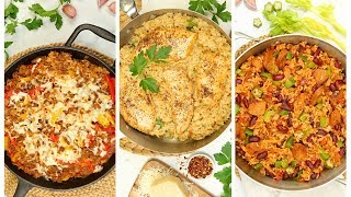 3 Delicious Rice Skillets | Easy One Dish Dinner Recipes