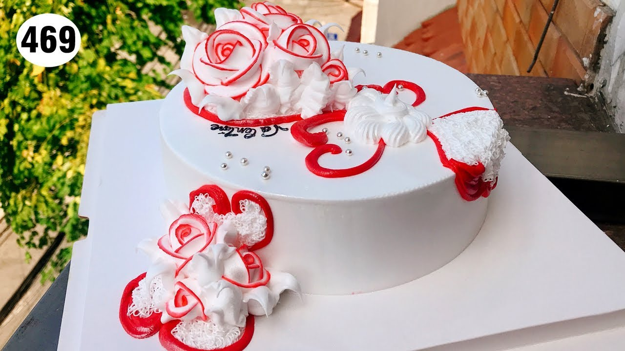cake Red rose decorate elegant – bánh sinh nhật hoa hồng đỏ (469)