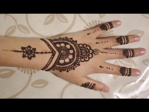 Simple Cute Henna Design Youtube