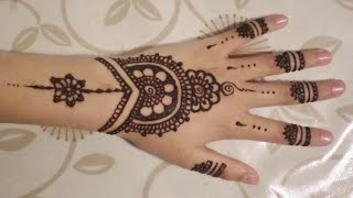 simple cute henna design