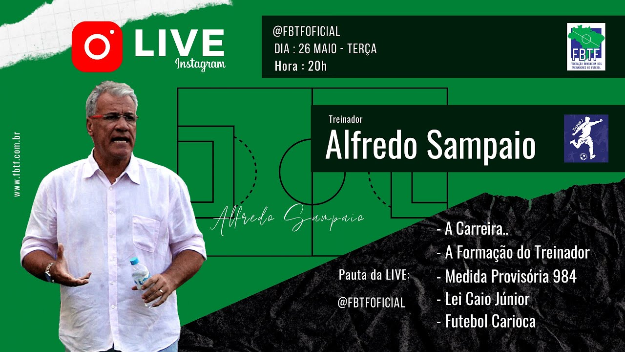 Treinador Alfredo Sampaio x FBTF