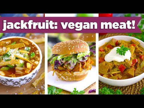 Healthy Jackfruit Recipes - Vegan Pulled Pork, Curry & Tortilla Soup!? - Mind Over Munch