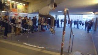 Skatetävling i klassiska trappan vid Slussen - Ride (TV4Sport)