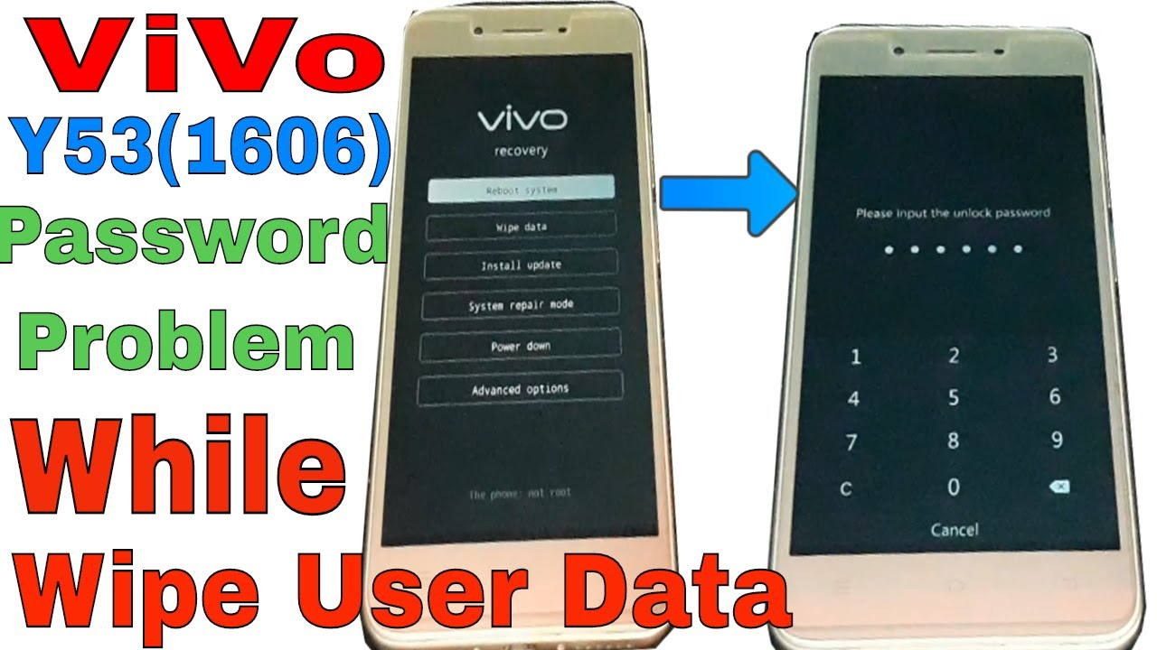 ViVo Y53 Hard Reset Problem/Password Showing While Wipe User Data