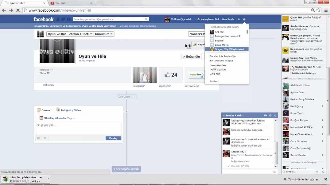 Facebook Kullanıcı adı değiştirme 2013 - YouTube