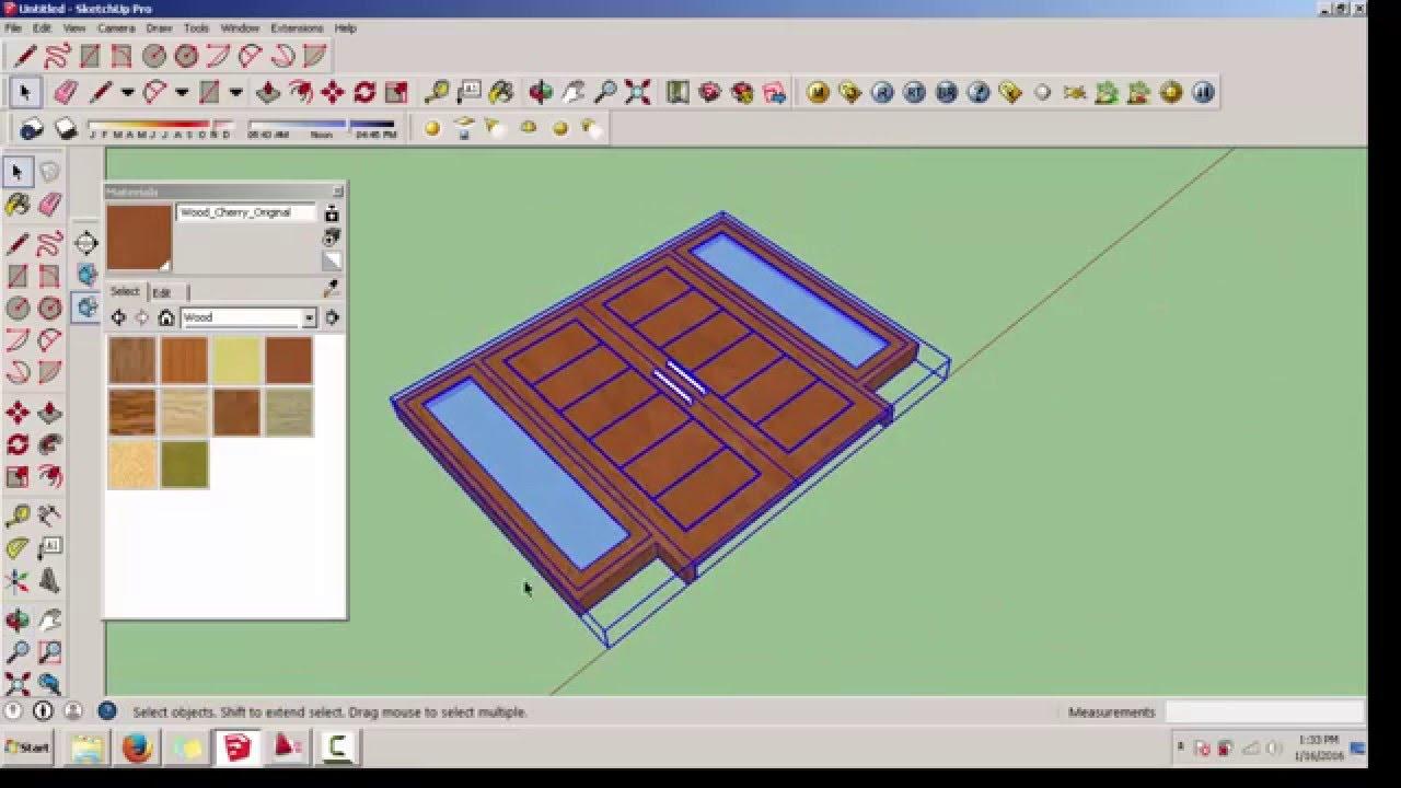 Tutorial Sketchup Membuat Pintu Dan Jendela Menggunakan Google