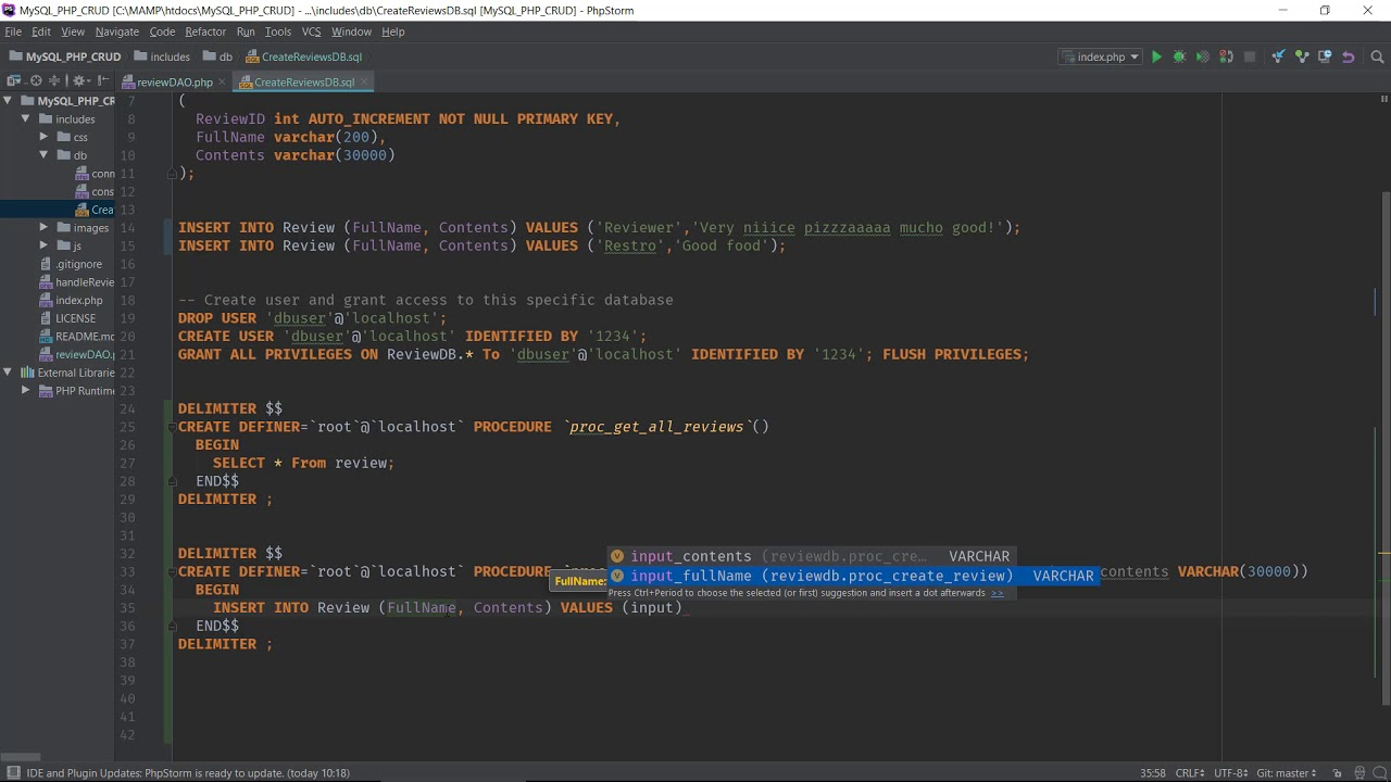 Introduction To Stored Procedures And Php Youtube