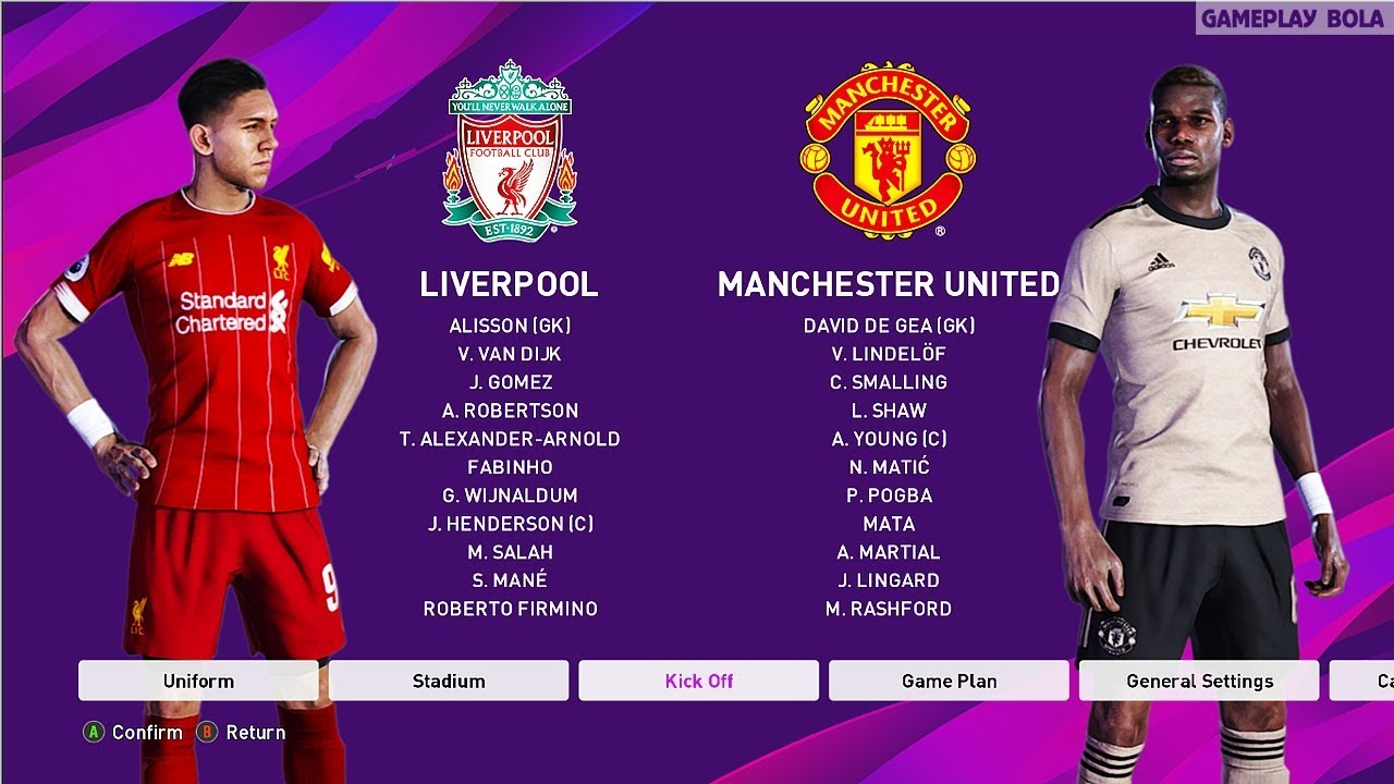 Liverpool Vs Man United Premier League Matchday Gameplay 2020 Youtube