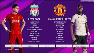 Liverpool vs man united in premier league matchday on pes gameplay 2020.this is a video of efootball 2020 pc the match man...