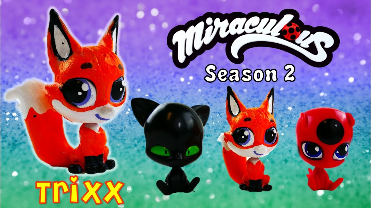 Custom Trixx Fox Volpina Kwami With Littlest Pet Shop