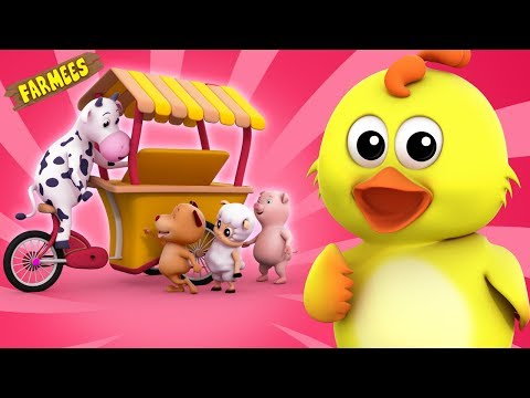 Ice Cream Song | Original Song | Nursery Rhymes | Baby Song | 3D Rhymes by farmees S02E88
