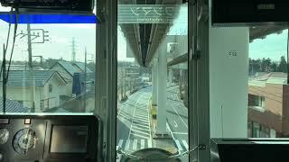 千葉都市モノレール2号線千城台駅から都賀駅間車窓。