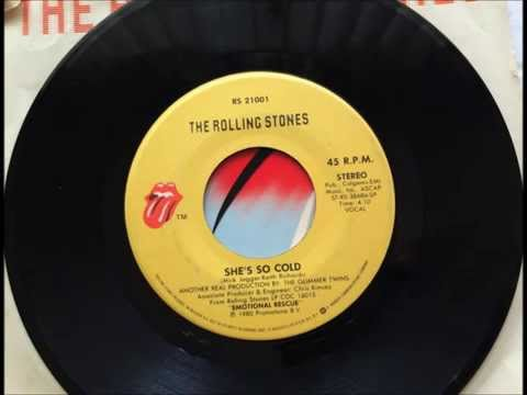She's So Cold , The Rolling Stones , 1980 Vinyl 45RPM