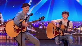 JACK AND TIM RECEIVE GOLDEN BUZZER FROM SIMON COWELL!   AUDITIONS