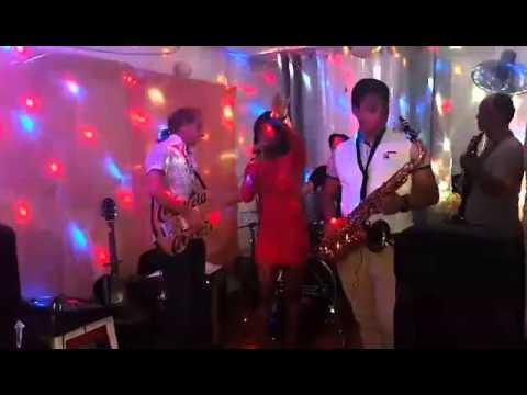 Ken Logan and MonaLissa at Finishline Bar in Sosua Live Band.