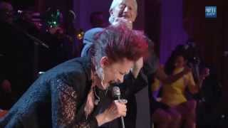 Cyndi Lauper and Charlie Musselwhite at the White House