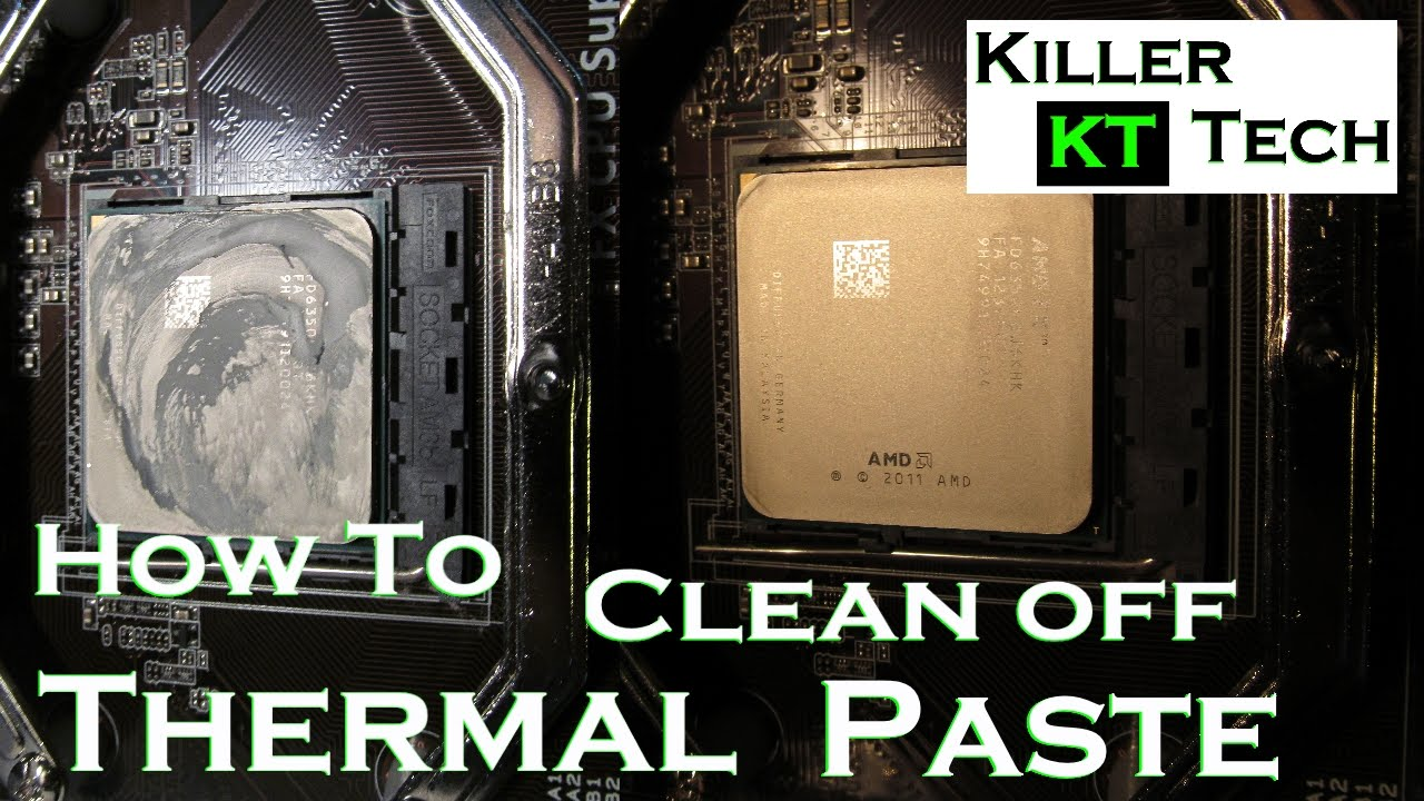 Best way to remove thermal paste from cpu
