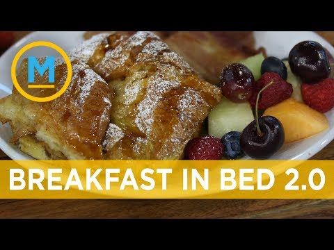 Elevate your breakfast in bed with croissant french toast & strawberry basil mimosas | Your Morning