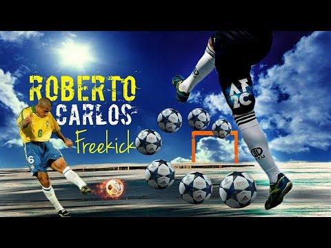 Cara Melakukan Tendangan ROBERTO CARLOS !! Freekick & Shooting Tutorial