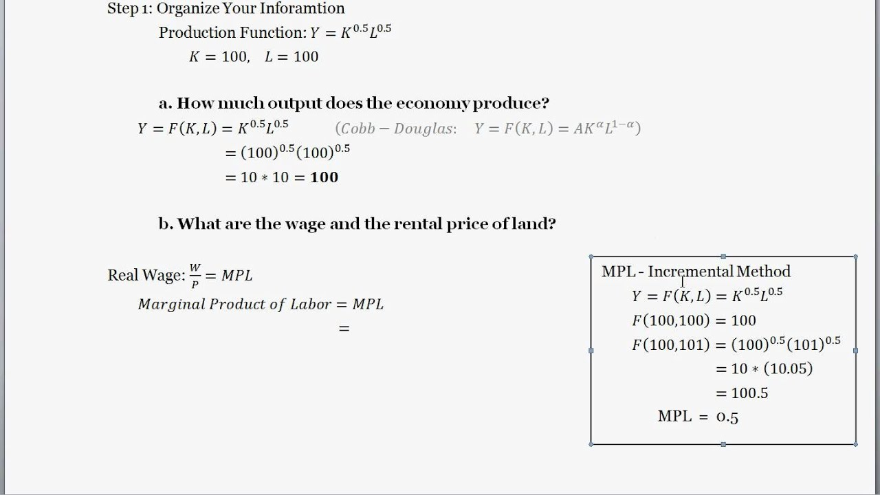 the production function finding the wage rate rental rate and the production function finding the wage rate rental rate and labor s share of income