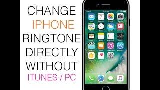 This is a way to change your iphone / ipad ringtone without using itunes or connecting pc .. ... .... garageband free application from apple set
