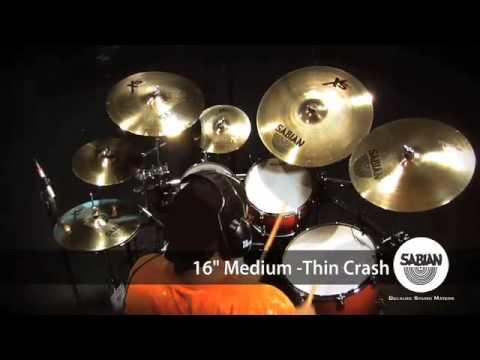 """Sabian XS20 16/"""" Medium Thin Crash Brilliant"""