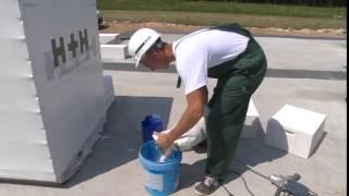 Murowanie ściany z betonu komórkowego H + H