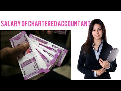 Salary of a chartered Accountant, salary of CA