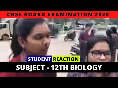 CBSE Board Exam 2020 | Class 12th Biology | Live Exam Analysis & Student Reactions