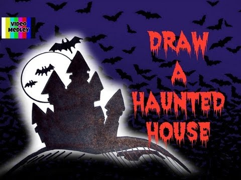 how to draw a haunted house for halloween youtube