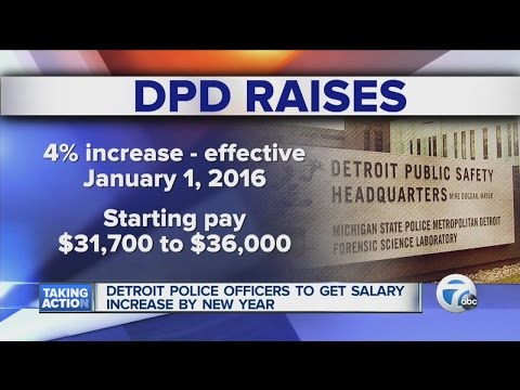 Detroit police officers getting salary increase - YouTube
