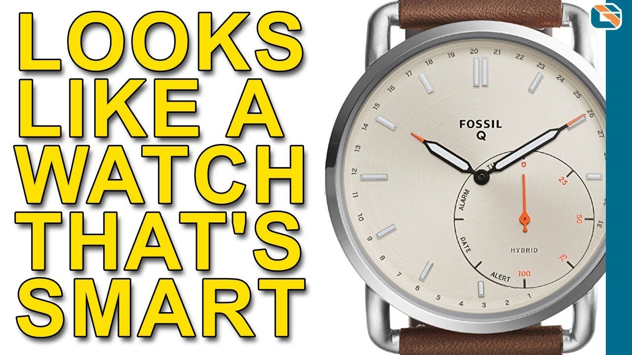 67e8bd6e02b0 Fossil Q Commuter Hybrid Smartwatch Review - YouTube