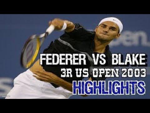 SUPER TENNIS!!! Federer v Blake 3R US Open 2003 Highlights