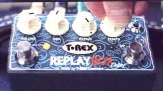 4 sounds with the T-Rex Replay Box delay