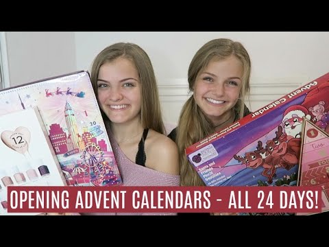 Opening Advent Calendars All 24 Days Christmas Countdown ~ Jacy And Kacy