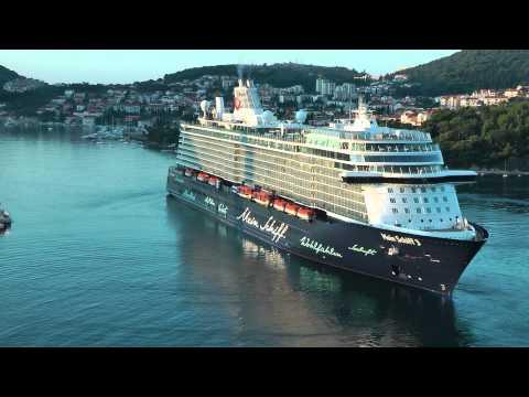 MEIN SCHIFF 3 at Dubrovnik port