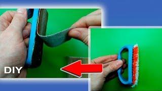 Идея из старой щеткой для очистки! Самодельный держатель для наждачной бумаги. Ідэя з старой шчоткай для ачысткі #DIY