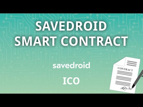 The savedroid Smart Contract - CRYPTOCURRENCIES FOR EVERYONE